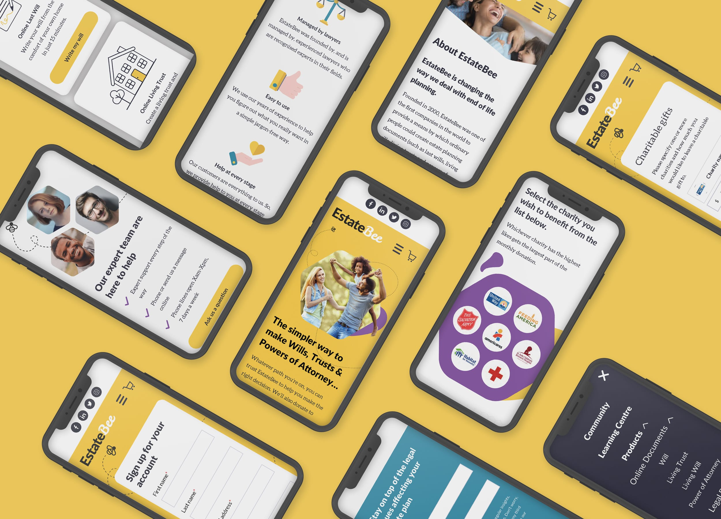 EstateBee Mobile Screens